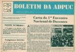 Detalhe da capa do Boletim da ADPUC, março/1979. Acervo Núcleo de Memória.