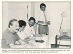 O prof. Paulo Cesar Motta, de pé na foto, em 1988.