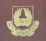 Primeiro brasão das Faculdades Católicas, início dos anos 1940.