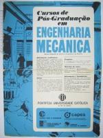 Cartaz sobre o Programa de Pós-Graduação em Engenharia Mecânica de meados dos anos 1960. Acervo Núcleo de Memória.