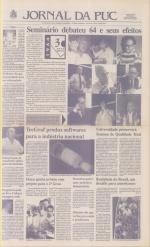 Capa do Jornal da PUC, abril de 1994. Acervo Comunicar.