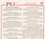 Detalhe do PUC Urgente 93 - 16 a 22 out 1989.