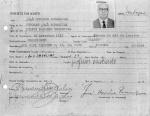Ficha funcional de José Honório Rodrigues, sem data de admissão.