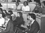 Clarice Lispector, ao centro, ao lado de Marina Colasanti e Nélida Piñon. Fotógrafo Antônio Albuquerque. Acervo Núcleo de Memória.