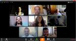 Equipe na reunião de teste do Zoom em 24/03/2020.