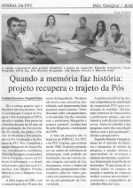 Matéria no Jornal da PUC.